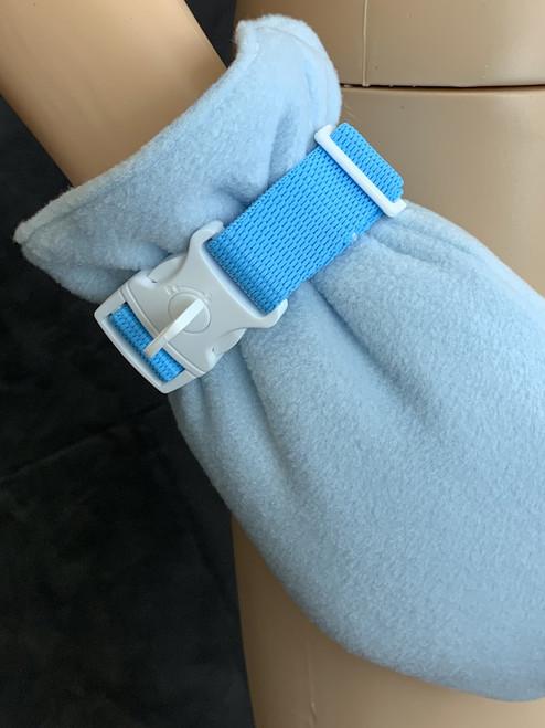 Cuddlz ABDL Locking Mitten Wrist Straps Baby Blue or Pink Adjustable