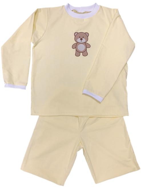 Cuddlz Baby Lemon Yellow Wincyette Brushed Cotton Adult ABDL Big Boys or Girls Pyjamas- Cuddlz.com