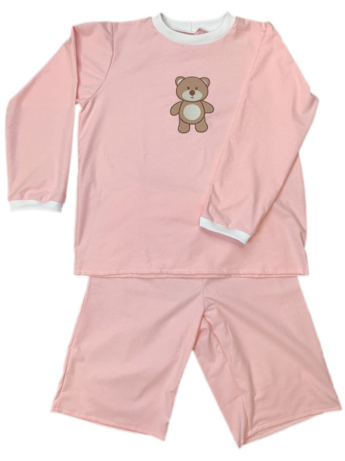 Cuddlz Baby Pink Wincyette Brushed Cotton Adult ABDL Big Boys or Girls Pyjamas - Cuddlz.com