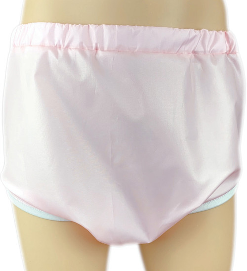 Cuddlz Pink Adult Crinkle Bum Pull Up Pants ABDL Incontinence Briefs