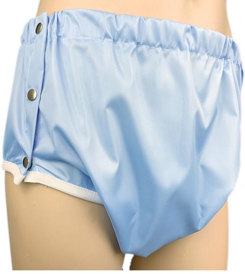 Cuddlz Blue Adult Crinkle Bum Side Fastening Pants ABDL Incontinence Briefs