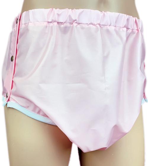 Cuddlz Pink Adult Crinkle Bum Side Fastening Pants ABDL Incontinence Briefs