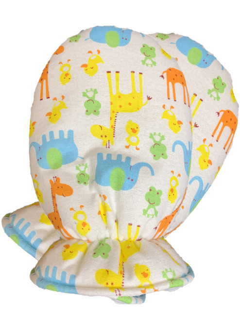 Cuddlz Colourful Safari Pattern Brushed Cotton Adult Baby Mittens ABDL Gloves Fetish