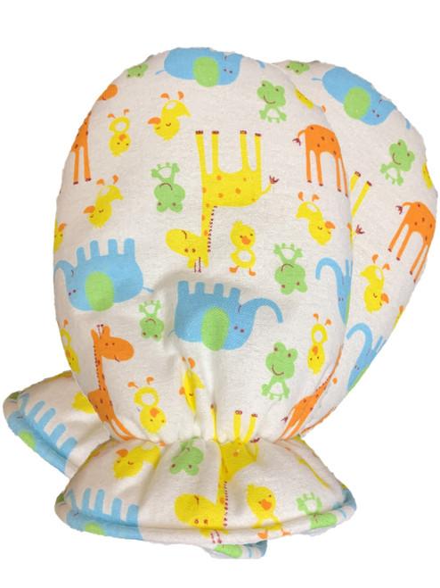 Cuddlz Colourful Safari Pattern Brushed Cotton Adult Baby Mittens ABDL Gloves Fetish