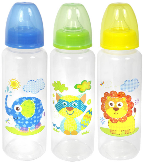 First Steps 250ml Jungle Animal Design Feeding Bottle