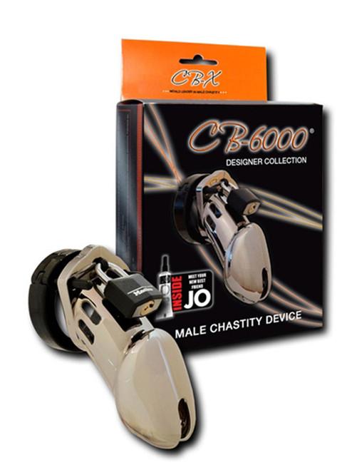 CB-X CB-6000 Chastity Cage Chrome Male Cock Bondage BDSM Chastity Lock