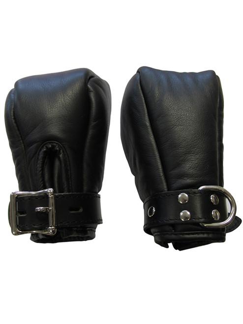 Mister B Premium Leather Bondage Fist Mitts Fetish Pup Play BDSM Bondage ABDL Adult Locking Mittens