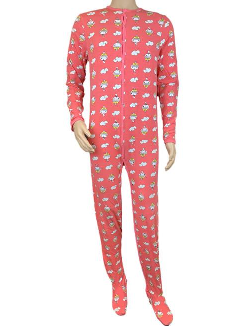 Cuddlz Cute Pink Girl Pattern adult baby grow sleepsuit romper suit full length onesie for adults abdl fetish sissy