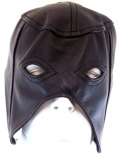 Rouge Black Leather Half Face Mask Hood Gimp Slave Bondage BDSM ABDL
