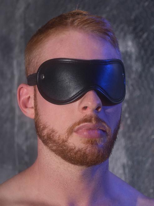 Rouge Leather blindfold eyemask Bondage BDSM Slave Black Red Blue Pink Purple Brown White ABDL