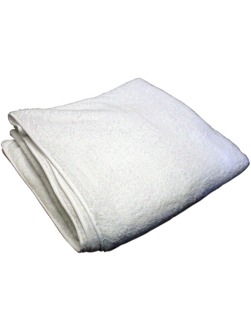 """Cuddlz 48"""" x 48"""" White Terry Nappy Cloth Diaper For Adults"""