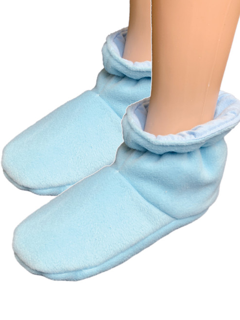 Cuddlz Baby Blue fleece adult baby padded booties fetish matching abdl booties and mittens