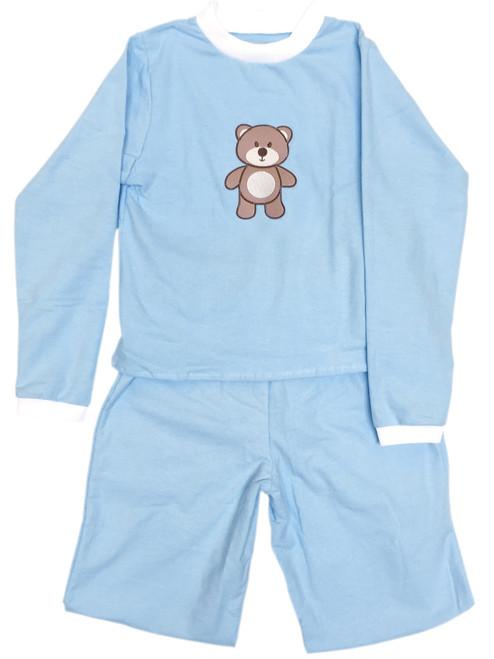 Cuddlz Baby Blue Wincyette Brushed Cotton Adult ABDL Big Boys or Girls Pyjamas
