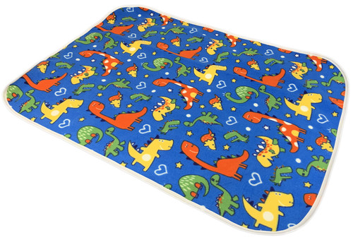 Cuddlz Blue Dinosaur Pattern Fleece Adult Baby ABDL Extra Large Size Changing Mat