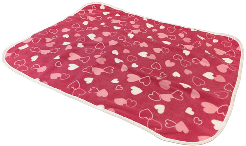 Cuddlz Pink Hearts Pattern Fleece Adult Baby ABDL Extra Large Size Changing Mat