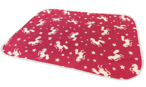 Cuddlz Pink Unicorn Pattern Fleece Adult Baby ABDL Extra Large Size Changing Mat