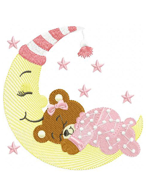Baby Girl Bear On The Moon ABDL Clothing Personalisation for Adult Babies
