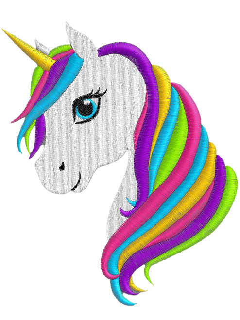 Colourful Unicorn Head Design ABDL Clothing Personalisation for Adult Babies Embroidery