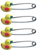 80mm Duck Design Adult Nappy / Diaper Pin Locking Safety Head Pack of 4 Cuddlz ABDL Yellow