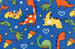 Blue Dino Pink Teddy Cuddlz Adult Baby Fleece Pyjamas ABDL