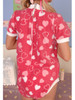Cuddlz Pink Hearts Pattern Fleece short zipped onesie for adults with Locking lockable zip option ABDL clothing adult baby diaper lovers Romper Sleepsuit