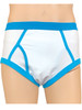 Cuddlz White with Blue Waistband Retro adult sized mens cartoon underpants briefs y-fronts abdl