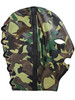 green camouflage Rouge Soft Leather Full Face Gimp Mask or Hood Choice of Colour Black Red Camouflage Yellow BDSM Bondage Slave ABDL