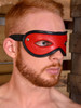 Rouge Leather open eye blindfold eyemask Bondage BDSM Slave Black Red Blue Pink Purple Brown White ABDL