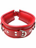 Red Rouge Padded Leather 3 Three D Ring Bondage Collar Choice of Colour BDSM Slave Puppy Play ABDL