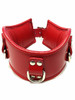 Red Rouge Padded Posture neck brace collar with 3 d rings for Bondage bdsm slave gimp puppy pony play