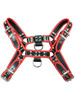 Black & Red Rouge Leather OT H Style Front Chest Harness for Bondage bdsm slaves gay with D rings for attachments