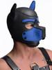 Spike Neoprene Puppy Hood Head Mask ABDL Pup Play - Blue