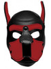 Spike Neoprene Puppy Hood Head Mask ABDL Pup Play - Red