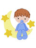 Boy Sat On The Moon ABDL Clothing Personalisation for Adult Baby Onesies