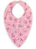 Cuddlz Pink Animal Pattern And Terry Towelling Reversible Adult Baby Bib ABDL