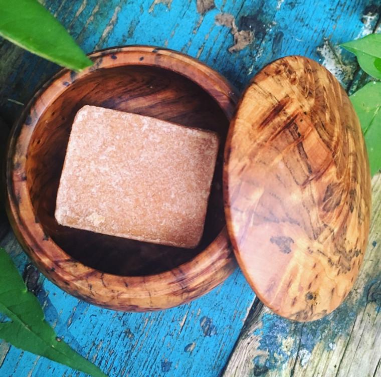 Moroccan Amber Resin Block & Cedarwood Pod (Unisex Solid Perfume & Beard Cologne)