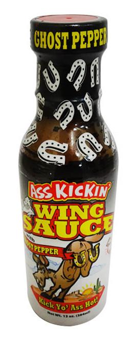 Ass Kickin Ghost Pepper Wing Sauce (348ml Bottle)
