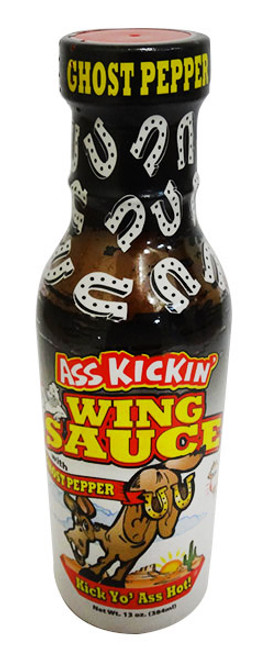 Ass Kickin Ghost Pepper Wing Sauce, by Southwest Specialty Food Inc,  and more Snack Foods at The Professors Online Lolly Shop. (Image Number :16737)