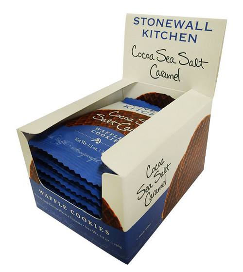 Stonewall Kitchen - Cocoa Sea Salt Caramel Waffle Cookie and more Snack Foods at The Professors Online Lolly Shop. (Image Number :16702)