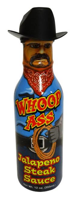 Whoop Ass Jalapeno Steak Sauce (355ml Bottle)