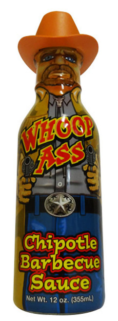 Whoop Ass Chipotle Barbecue Sauce, by Southwest Specialty Food Inc,  and more Snack Foods at The Professors Online Lolly Shop. (Image Number :16695)