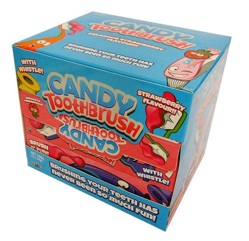 Candy Toothbrush, by Confectionery Trading Company,  and more Confectionery at The Professors Online Lolly Shop. (Image Number :16852)