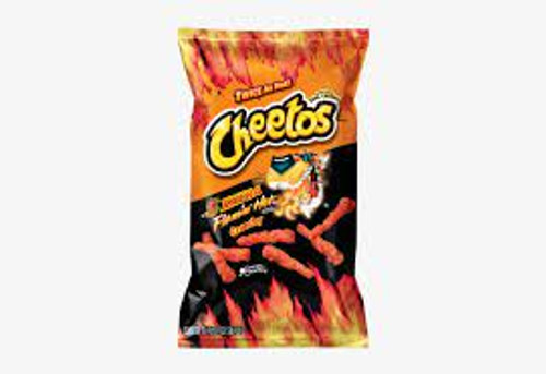 Cheetos Crunchy Bulk - Xxtra Flamin Hot and more Snack Foods at The Professors Online Lolly Shop. (Image Number :16845)
