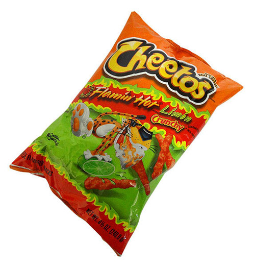 Cheetos Crunchy Bulk -  Hot Limon and more Snack Foods at The Professors Online Lolly Shop. (Image Number :16951)