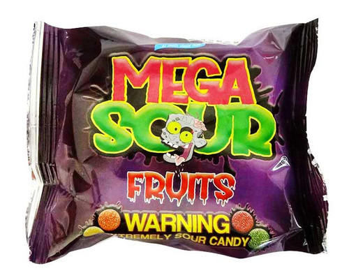 Barnetts Mega Sour fruits, by Barnetts,  and more Confectionery at The Professors Online Lolly Shop. (Image Number :17054)