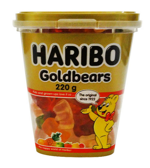 Haribo Goldbears Tub, by Haribo,  and more Confectionery at The Professors Online Lolly Shop. (Image Number :17070)