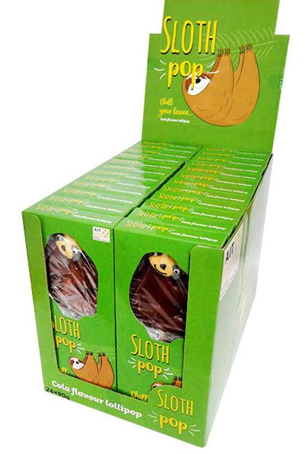 Sloth Lollipops ( 24 x 90g In a display box)