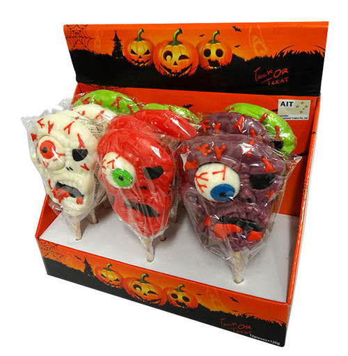 Halloween Jelly Eye Pops, by AIT Confectionery,  and more Confectionery at The Professors Online Lolly Shop. (Image Number :17104)
