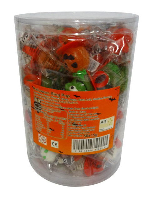 Halloween Ring Pops, by AIT Confectionery,  and more Confectionery at The Professors Online Lolly Shop. (Image Number :17108)