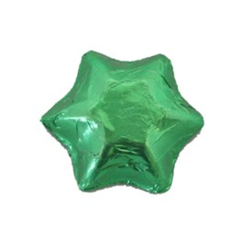 Belgian Milk Chocolate Stars - Green and more Confectionery at The Professors Online Lolly Shop. (Image Number :17180)